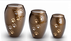 Two Tone Paw Prints Tall Paws Urn