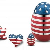 Patriotic American Flag Style Urns