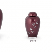 Burgundy Red Glass Urns