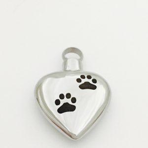 pendant heart paw prints