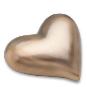 Keepsake Brushed Gold Tone Heart