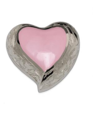 Baby Pink Enamel Silver Cremation Urns