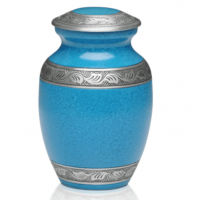 Turquoise Pewter Cremation Urn