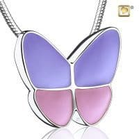 Butterfly Wings Pink Lavender Sterling Silver
