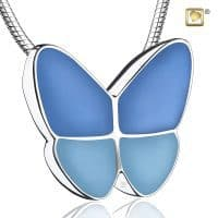 Butterfly Wings Two Tone Blue Sterling Silver