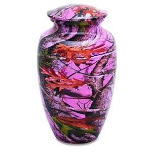 Adult Pink Camouflage Urn