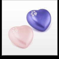 Swarovski Crystal Paw Print Heart