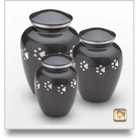 Midnight Paw Print Pet Urn