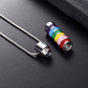 Stainless Steel Rainbow Cremation Pendant