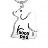 Stainless Steel Dog Profile Cremation Pendant