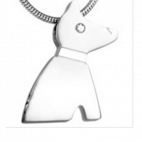 Stainless Steel Dog Cremation Pendant