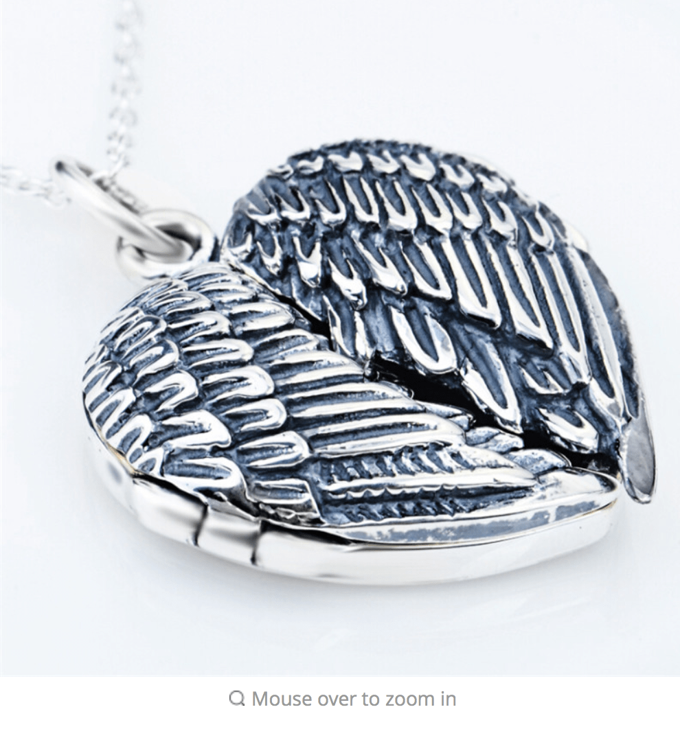 Cremation Necklace Urn Necklace Angel Wing Memorial Jewelry Memorial Gift