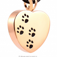 Stainless Steel Gold Tone Paw Print