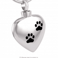 Pendant Heart Paw Prints