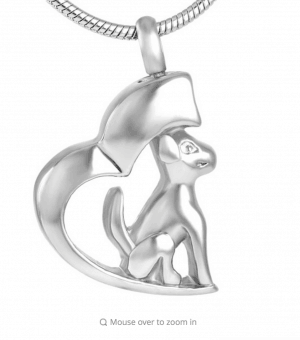 Stainless Steel Dog Pendant