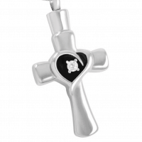 Stainless Steel Pendant Heart Paw Print