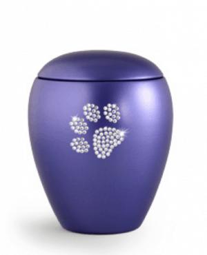 Violet Swarovski Crystal Paw Print