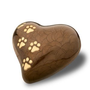 small-heart pearl bronze with-gold-polished-tone-paw-prints