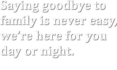Saying goodbye to family is never easy,